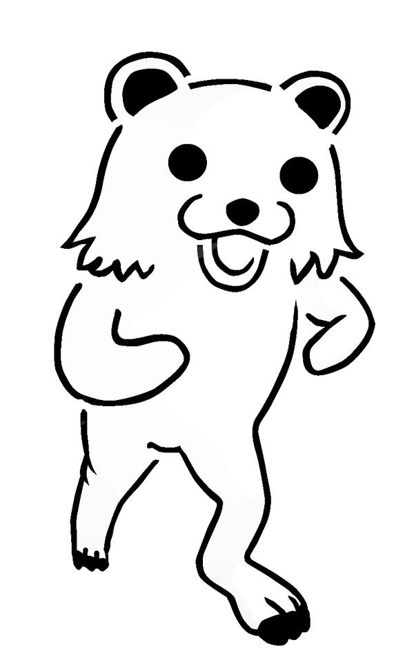 Stencil Of Bear