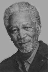 Morgan Freeman by ekota21