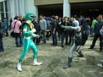 Green Power Ranger VS a putty