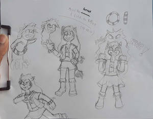 Sonic OC [Misil And Listik Sketch]