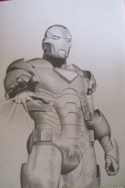 Iron Man Pencil Drawing by Iron Man Pencil Drawings