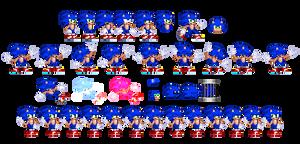 Freedom Planet-styled Sonic sprites, V2