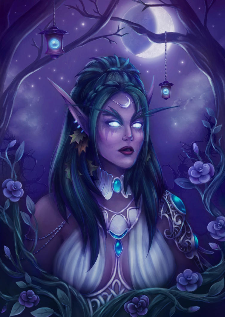 Tyrande Whisperwind World Of Warcraft By Merrrigold
