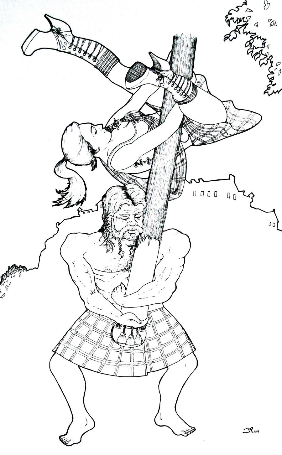caber tossing pole dancing by strooitje on deviantart