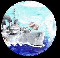 USS Johnston S by Strooitje