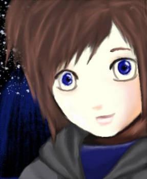 Self portrait anime-fied