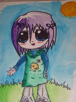 Purple-haired child-chibi