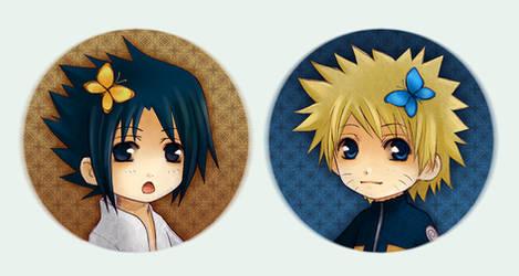 Naruto Button set 1 by Radittz
