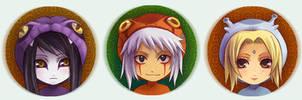 Naruto Button set 3 Sannins by Radittz