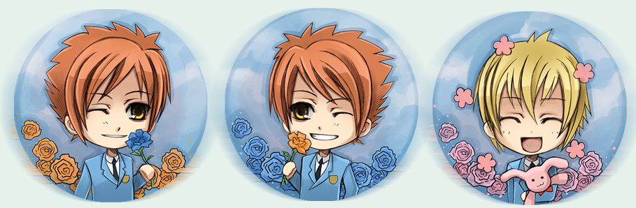 Ouran Button set 2 by Radittz