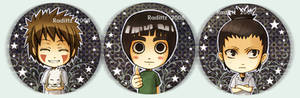 Konoha High button set 1
