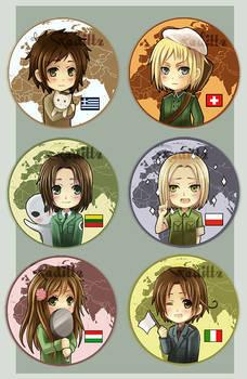 Axis Powers Hetalia button set