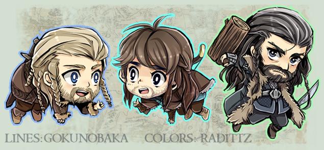 Hobbit Kawaii Dwarfs Keychains by Radittz