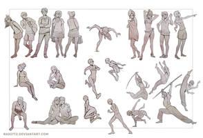 Gesture drawing practice