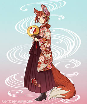 Fox in pink