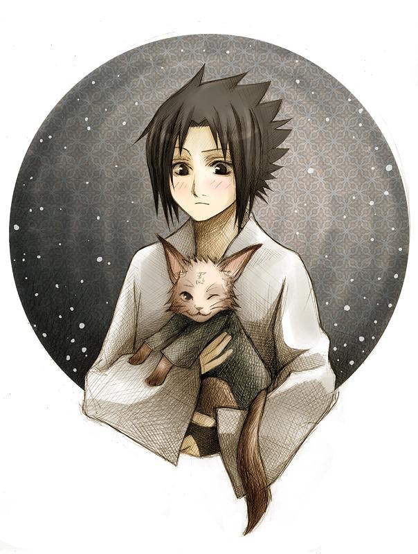 Sasuke likes kitties XP by Radittz