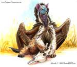 Lappet Faced Hyena Gryphon by Ahkahna