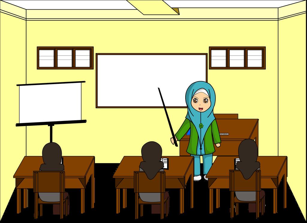 Contoh Gambar Kartun Guru Sedang Mengajar Ideku Unik