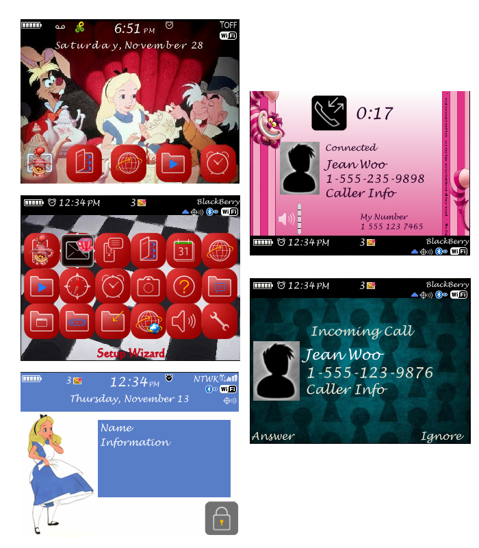 Applications & themes blackberry