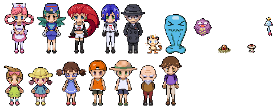 Pokemon And Y Cartoon Characters : Pokemon character pixel art by digitalchain on deviantart