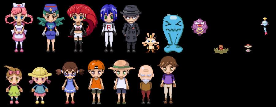 Character Design Pixel Art : Pokemon character pixel art by digitalchain on deviantart