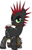 Fallout Equestria: Heroes - Bloody Dagger by geekladd