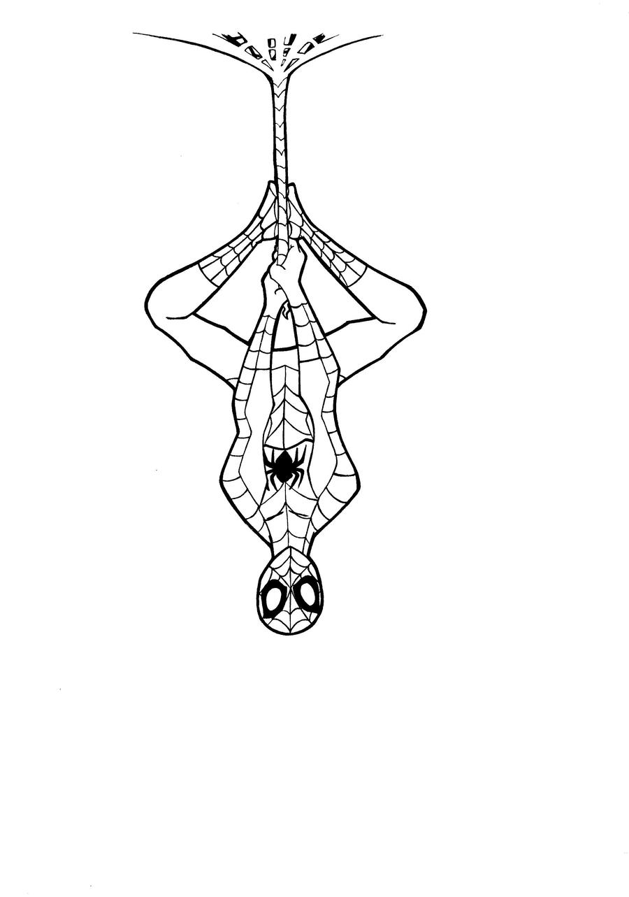 Line Art Comic : Spiderman line art by justicity comics on deviantart