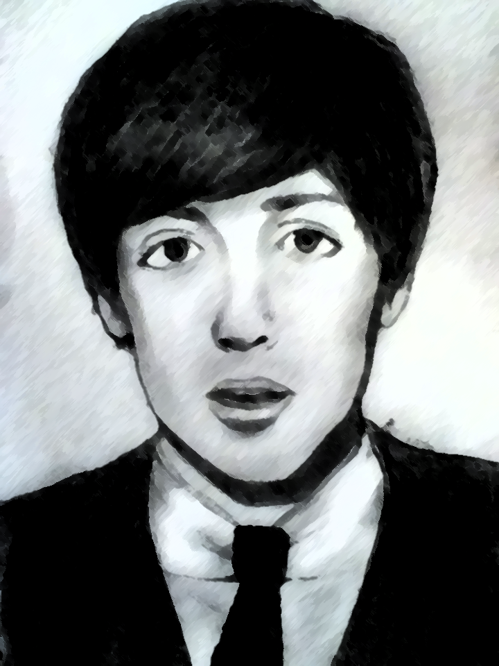 Drawing Of Paul McCartney Photo Shopped By X Doll Face