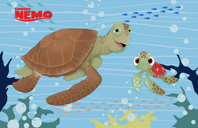 Finding Nemo Crush and Squirt by momarkey