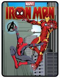 Marvel Iron Man and Spider-Man.