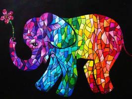 Happy Elephant by vazest