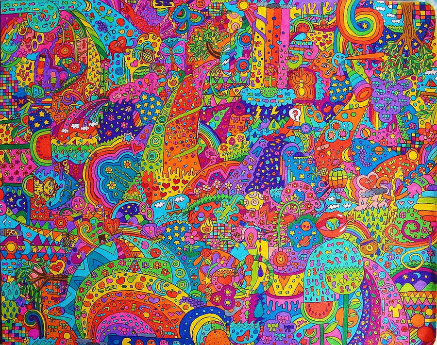 Kewl Beans Burst Of Colors Psychedelic Trips Rainbows