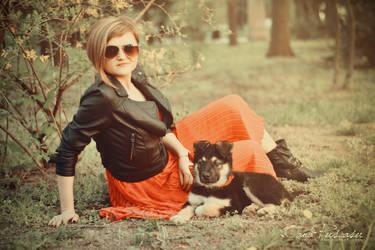 Puppy Lover I by OanaRayne