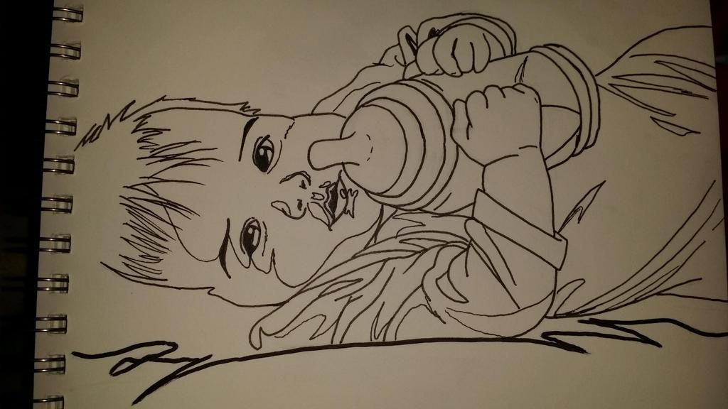 My Son with bottle by Takineko