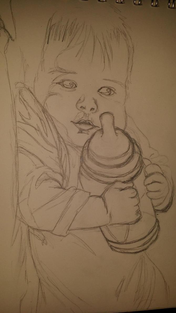 My Son sketch by Takineko