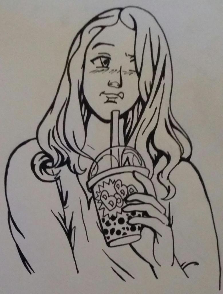 Boba Tea Girl by Takineko