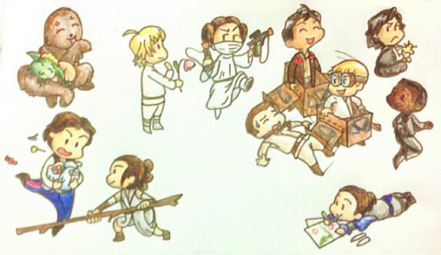 Baby Star Wars Adventures header by Takineko