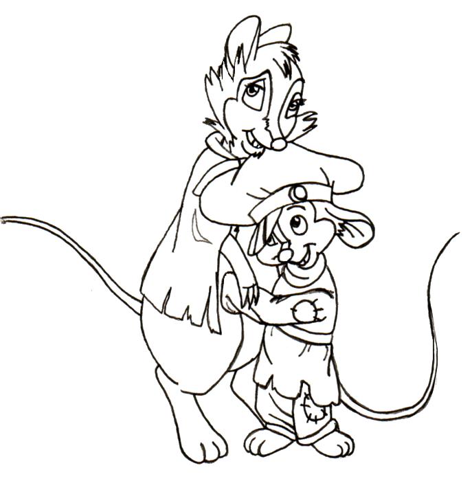 fievel coloring pages - photo#11