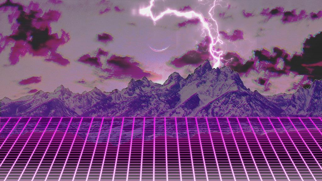 Synthwave/Retrowave Wallpaper by porkskies on DeviantArt