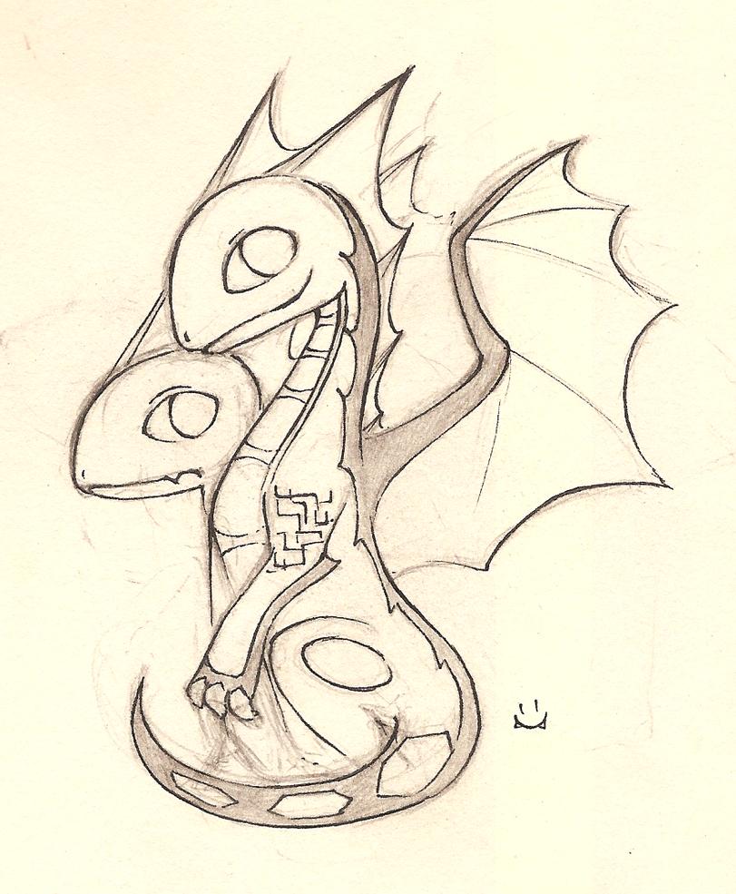 baby portal dragon by shiina 99 on deviantart