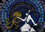 Mosaico azul by Bakarti