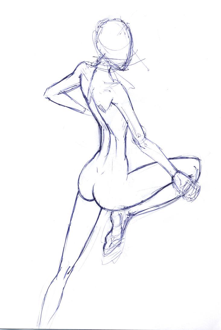 Female Back Studies by Nx3Fox