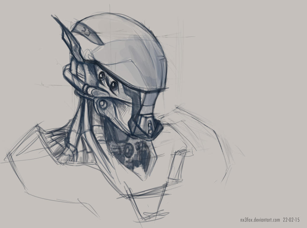 Robot Head + Process Video by Nx3Fox