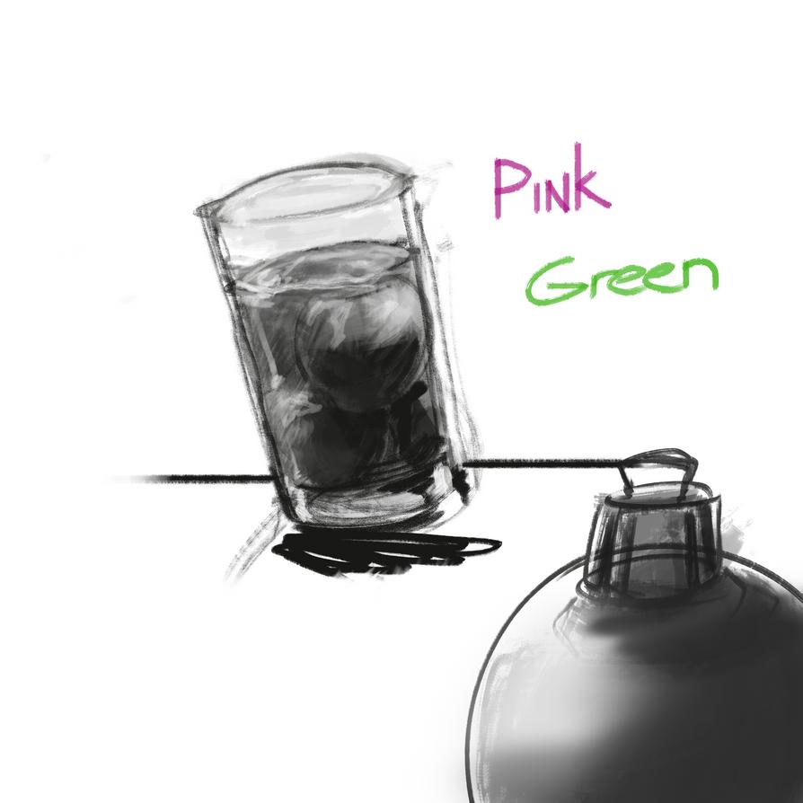 Drink Green Pink by Nx3Fox