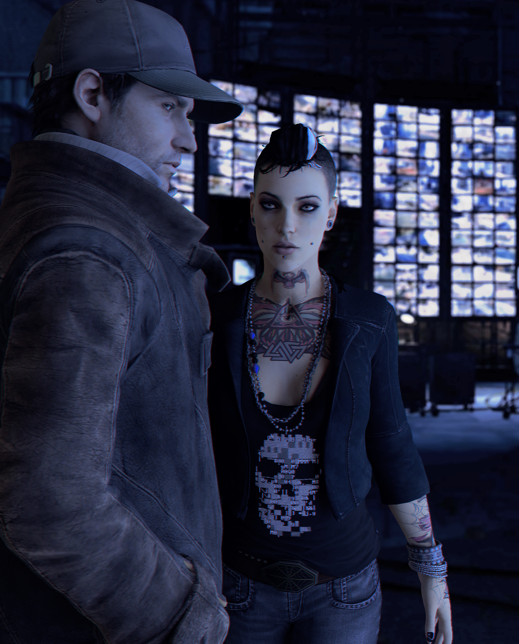 watch dogs clara and aiden relationship
