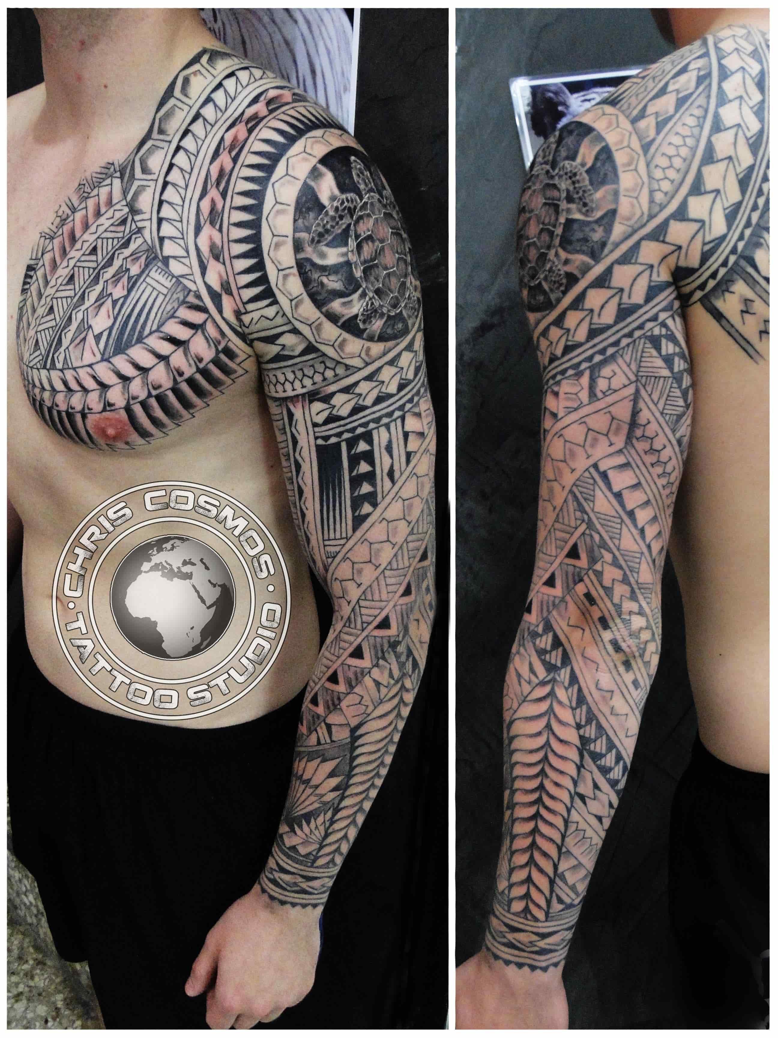 e63e7ddda4d82 Polynesian Maori Custom Tattoo Cosmos Cyprus by CCTZARTATELIER on ...