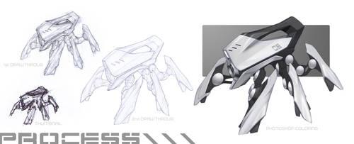 Crab-Bot_PROCESS by gotcharabbit