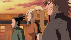 Ino, Shikamaru and Choji