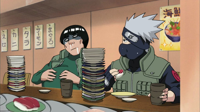 kakashi_and_guy_at_sushi_eating_contest_by_theboar-d4jz7k5
