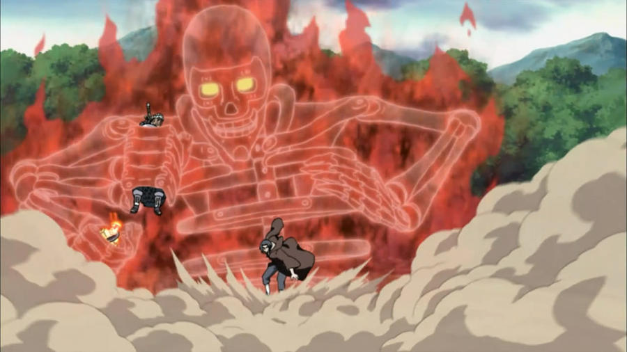 Itachi Used Susanoo To Protect Naruto And Bee By TheBoar